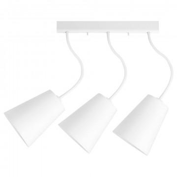 Потолочный светильник с регулировкой направления света Nowodvorski Flex Shade 9763, 3xE27x60W, белый, металл, текстиль