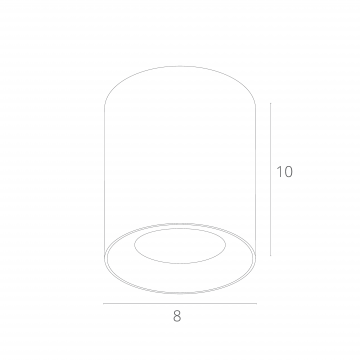 Схема с размерами Arte Lamp Instyle A5112PL-1WH