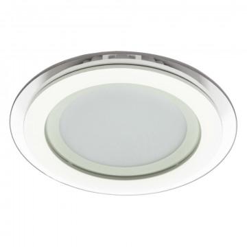 Встраиваемая светодиодная панель Arte Lamp Instyle Raggio A4118PL-1WH, LED 18W 3000K 1440lm CRI≥70, белый, металл со стеклом, стекло