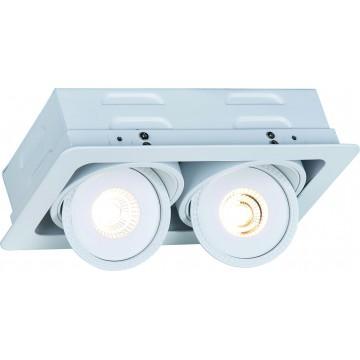 Встраиваемый светодиодный светильник Arte Lamp Instyle Studio A3007PL-2WH, LED 14W, 3000K (теплый), белый, металл