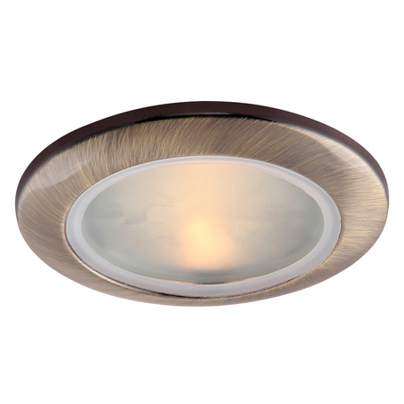 Встраиваемый светильник Arte Lamp Instyle Aqua A2024PL-1AB, IP44, 1xGU10x50W, бронза, металл, стекло