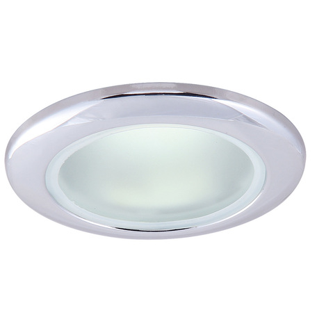 Встраиваемый светильник Arte Lamp Instyle Aqua A2024PL-1CC, IP44, 1xGU10x50W, хром, металл, стекло