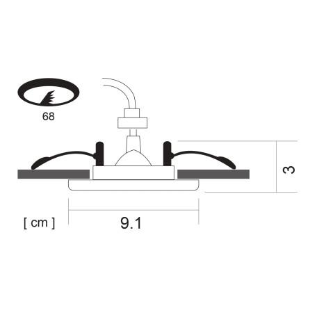 Схема с размерами Arte Lamp Instyle A2024PL-1CC
