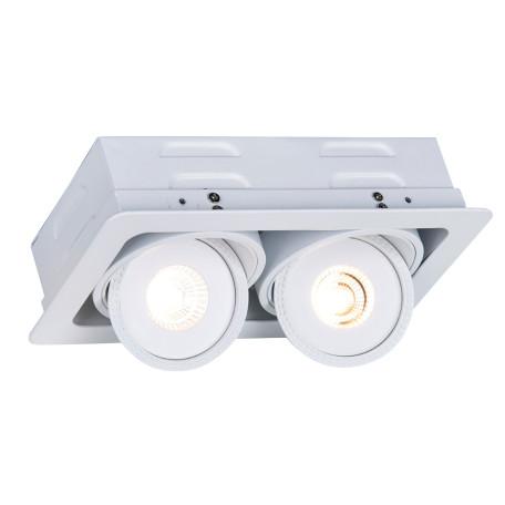 Встраиваемый светодиодный светильник Arte Lamp Instyle Studio A3007PL-2WH, LED 14W 3000K 1330lm CRI≥80, белый, металл