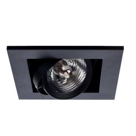 Встраиваемый светильник Arte Lamp Instyle Cardani Medio A5930PL-1BK, 1xG53AR111x50W, черный, металл