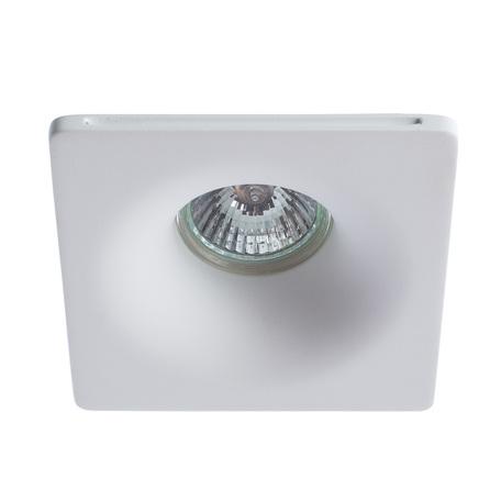Встраиваемый светильник Arte Lamp Instyle Invisible A9110PL-1WH, 1xGU10x35W, белый, под покраску, гипс