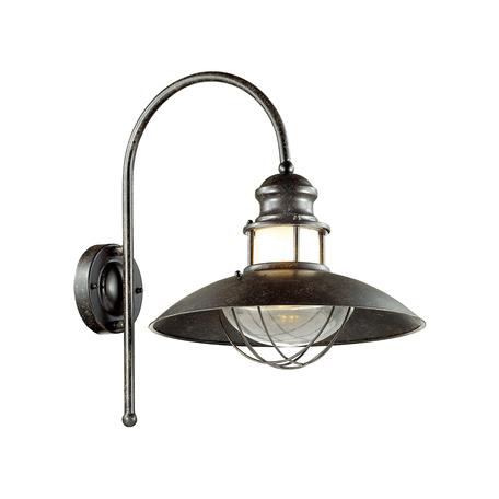 Настенный светильник Odeon Light Dante 4164/1WA, IP44, 1xE27x60W, коричневый, прозрачный, металл, стекло