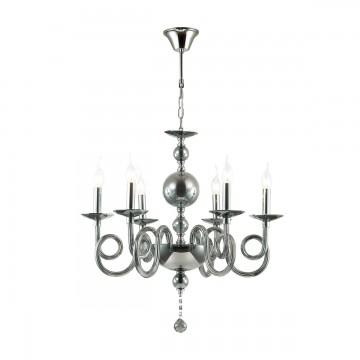 Подвесная люстра Odeon Light 4601/6, дымчатый, хром, металл, стекло, хрусталь