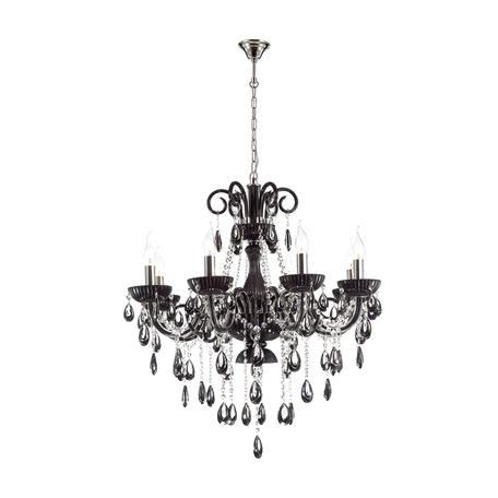 Подвесная люстра Odeon Light Ines 4189/8, 8xE14x40W, хром, черный, прозрачный, металл, стекло, хрусталь