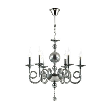 Подвесная люстра Odeon Light Iria 4601/6, 6xE14x40W, хром, дымчатый, стекло, хрусталь