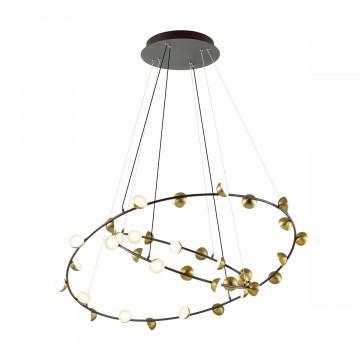 Подвесной светодиодный светильник Odeon Light Verica 4156/99L, LED 108W 3000K 7020lm, черный, бронза, металл, пластик