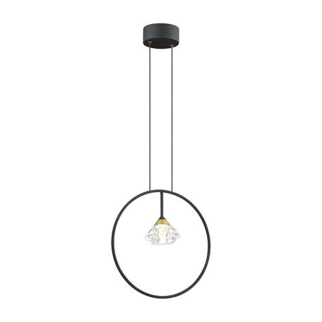 Подвесной светильник Odeon Light Arco 4100/1, 1xG9x5W, черный, прозрачный, металл, металл с пластиком