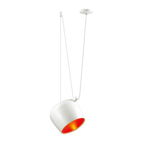 Подвесной светильник Odeon Light Classic Foks 4103/1, 1xE27x40W, белый, красный, металл