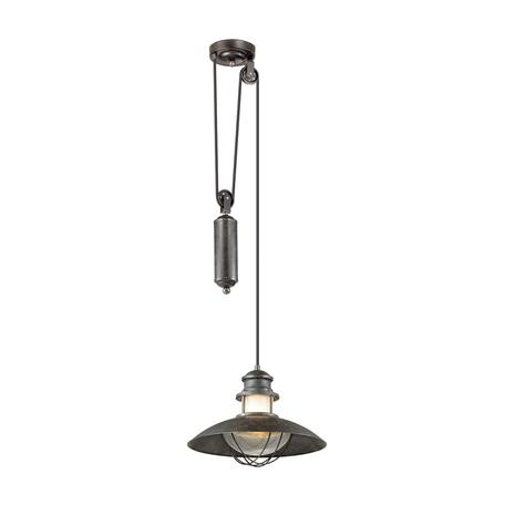 Подвесной светильник Odeon Light Dante 4164/1A, IP23, 1xE27x60W, коричневый, прозрачный, металл, стекло