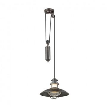 Подвесной светильник Odeon Light 4164/1A, IP23, коричневый, прозрачный, металл, стекло