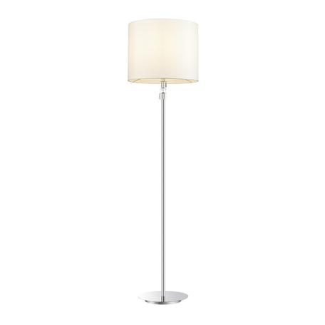 Торшер Odeon Light Pavia 4113/1F, 1xE27x40W, хром, белый, металл, хрусталь, текстиль