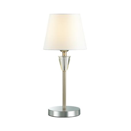 Настольная лампа Lumion Neoclassi Loraine 3733/1T, 1xE27x60W, хром, белый, металл со стеклом, текстиль