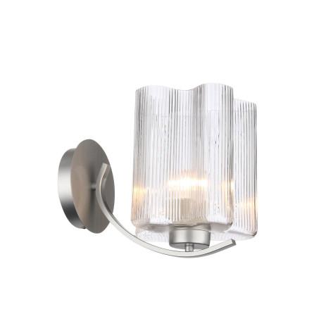 Бра ST Luce Onde SL117.101.01, 1xE27x60W, серебро, прозрачный, металл, стекло