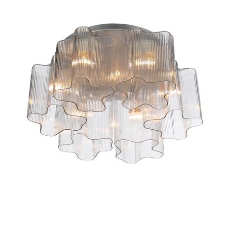 Потолочная люстра ST Luce Onde SL117.102.06, 6xE27x60W, серебро, прозрачный, металл, стекло