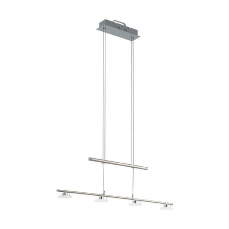 Подвесной светодиодный светильник Eglo Borriol 1 32869, LED 18W 3000K 2000lm, сталь, белый, металл, пластик