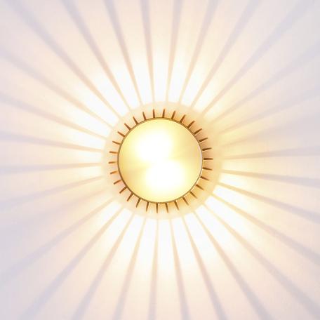 Настенный светодиодный светильник Odeon Light Cielino 3847/3WL 3000K (теплый), золото, металл, пластик