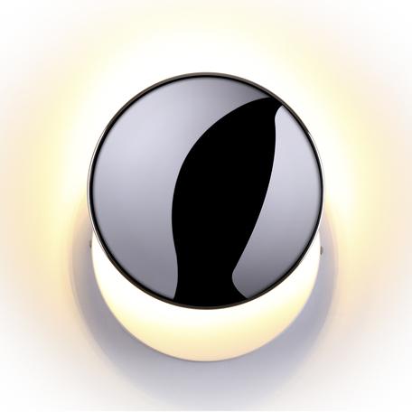 Настенный светодиодный светильник Odeon Light Plumba 3851/15WL, LED 15W, 3000K (теплый), белый, хром, металл