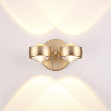 Настенный светодиодный светильник с регулировкой направления света Odeon Light Ottico 3874/40WL, LED 40W, 3000K (теплый), золото, металл