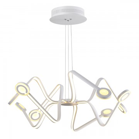 Подвесная люстра Odeon Light 3862/99L, белый, металл, пластик