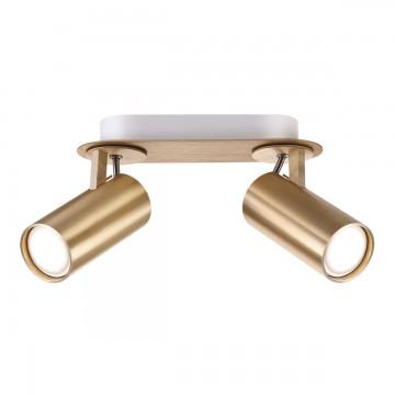 Потолочный светильник с регулировкой направления света Odeon Light Corse 3876/2C, 2xGU10x50W, матовое золото, металл