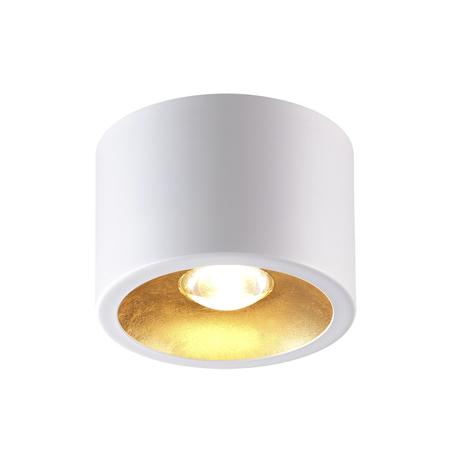 Потолочный светильник Odeon Light Hightech Glasgow 3877/1CL, 1xGU10x50W, белый с золотом, золото с белым, металл