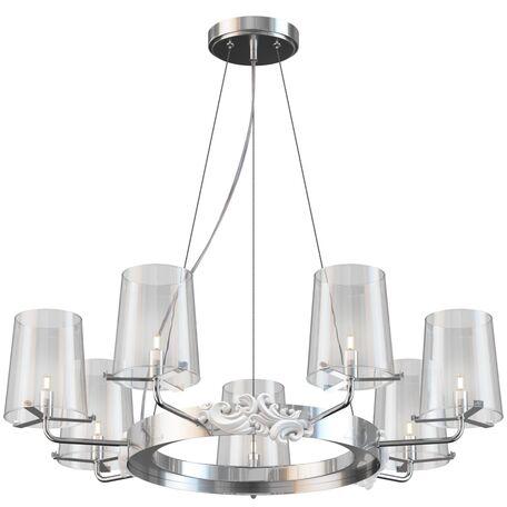 Подвесная люстра Maytoni Landmark MOD040PL-07CH, 7xG9x28W, хром, прозрачный, металл, стекло