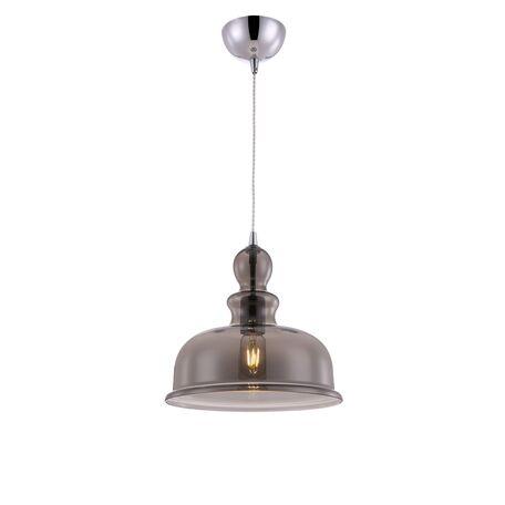 Подвесной светильник Maytoni Tone P034PL-01CH, 1xE27x60W, хром, дымчатый, металл, стекло