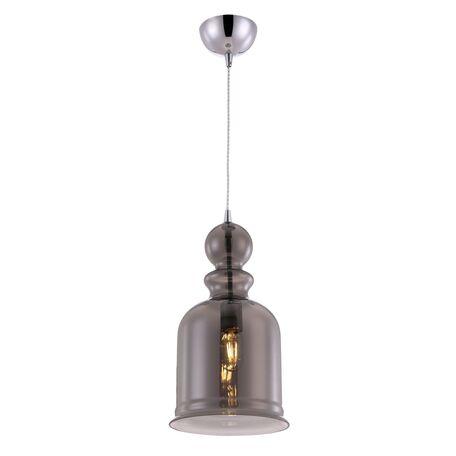 Подвесной светильник Maytoni Tone P035PL-01CH, 1xE27x60W, хром, дымчатый, металл, стекло