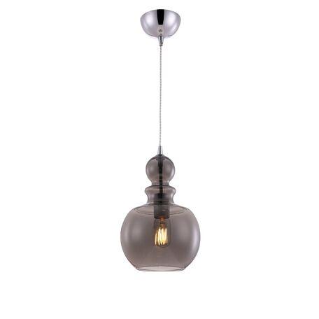 Подвесной светильник Maytoni Tone P036PL-01CH, 1xE27x60W, хром, дымчатый, металл, стекло