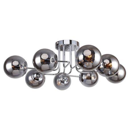 Потолочная люстра Favourite F-Promo Modestus 2345-8U, 8xE14x40W, хром, дымчатый, металл, стекло