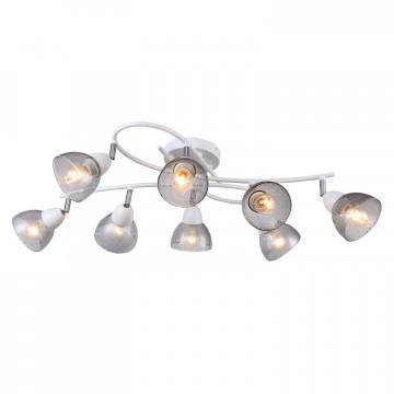 Потолочная люстра с регулировкой направления света Favourite F-Promo Rosebud 2350-8U, 8xE14x40W, белый, дымчатый, металл, стекло