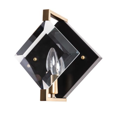 Настенный светильник Divinare Elliot 7304/04 AP-1, 1xE14x40W, черный с золотом, прозрачный, металл, стекло