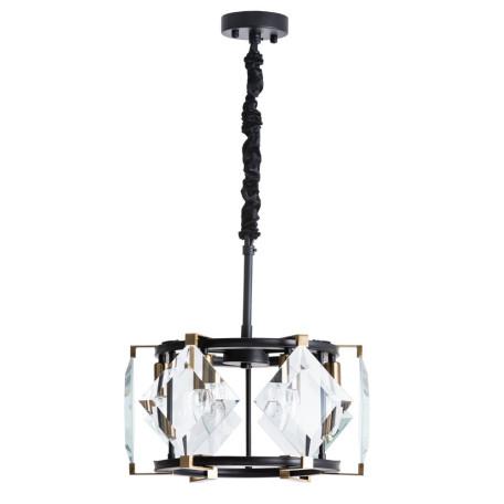 Подвесная люстра Divinare Elliot 7304/04 SP-6, 6xE14x40W, черный, прозрачный, металл, стекло