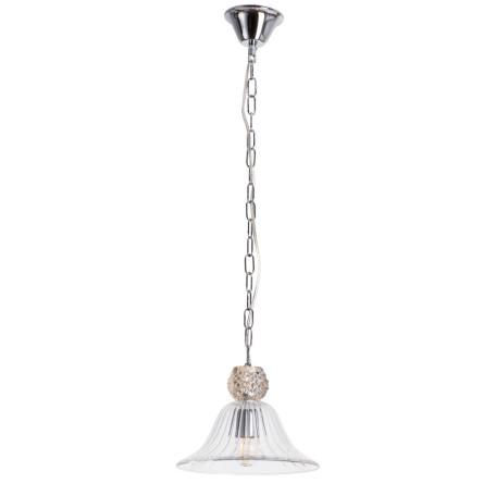Подвесной светильник Divinare Pallottola 1281/02 SP-1, 1xE27x100W, хром, прозрачный, металл, хрусталь
