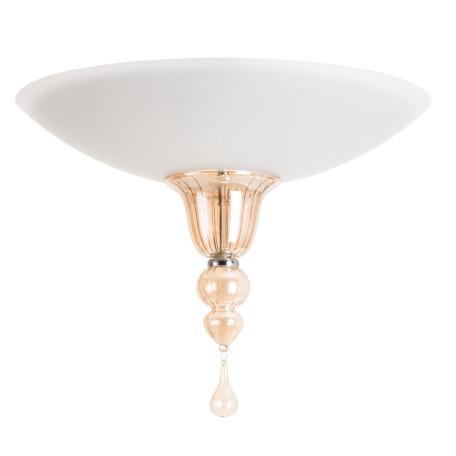 Потолочный светильник Divinare Goccia 4021/02 PL-2, 2xE14x60W, хром, белый, янтарь, металл, стекло, хрусталь