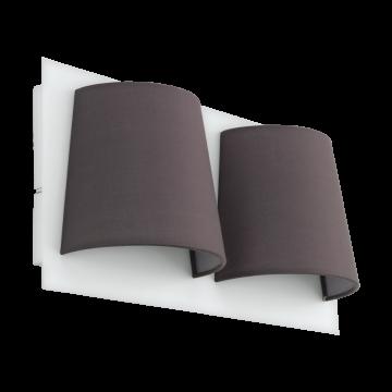 Светодиодное бра Eglo Serravalle 97625, LED 10,8W 3000K 820lm, белый, серый, металл, текстиль
