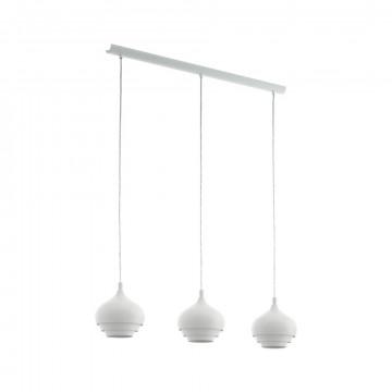 Подвесной светильник Eglo Camborne 97213, 3xE27x60W, белый, металл
