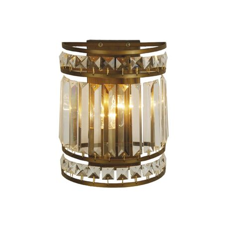 Бра Favourite Ancient 1085-2W, 2xE14x40W, коричневый, прозрачный, металл, металл с хрусталем - миниатюра 1