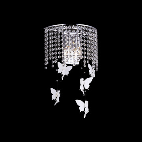 Бра Favourite Fairies 1165-2W, 2xE14x40W, хром, белый, прозрачный, металл, гипс, хрусталь