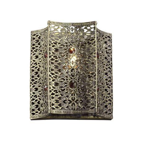 Бра Favourite Bazar 1624-1W, 1xE14x40W, черненое золото, коньячный, металл с хрусталем