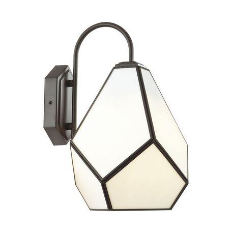 Бра Favourite Eislager 1916-1W, 1xE14x40W, черный, белый, черно-белый, металл, стекло