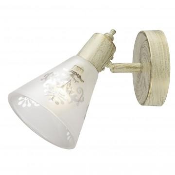 Настенный светильник с регулировкой направления света Favourite Gumbata 1794-1W, 1xE14x40W, бежевый с золотой патиной, белый, металл, стекло