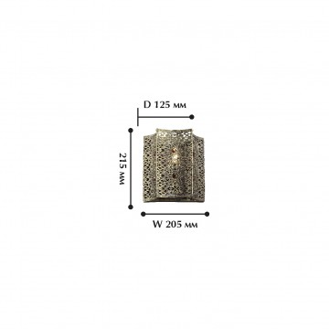 Схема с размерами Favourite 1624-1W