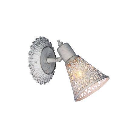 Настенный светильник с регулировкой направления света Favourite Arabian Dream 1796-1W, 1xE14x40W, белый с золотой патиной, металл, металл с хрусталем