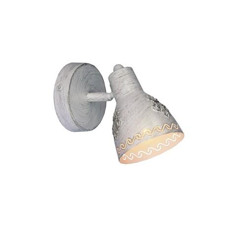 Настенный светильник с регулировкой направления света Favourite Martos 1798-1W, 1xE14x40W, белый с золотой патиной, металл